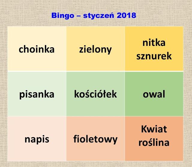 Bingo - styczeń 2018r