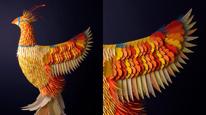 Esculturas de papel exquisitamente elaborados de Zim y Zou