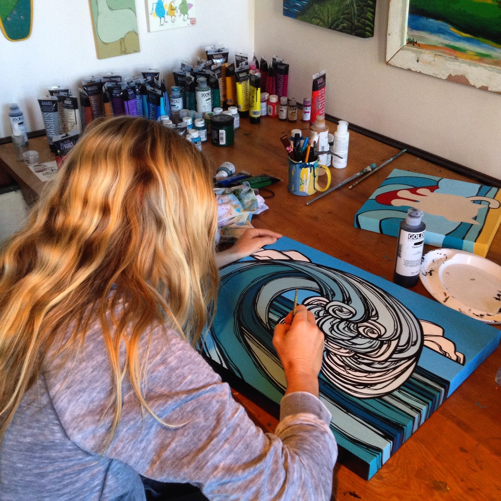 surf art heather brown