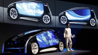 Toyota Fun-Vii: Toyota presentó un auto parecido a un 'smartphone'