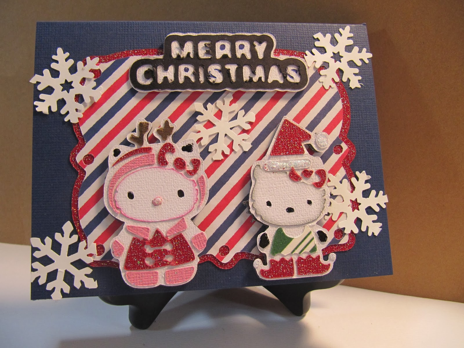 Sunshine creations and crafts christmas card 3 hello merry kitty it might be best you watch how i made it to see all that i did with the cuts and added embellishments youtubesunshinecreation m4hsunfo