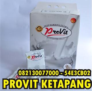 Jual Susu Provit Ketapang , Susu Kambing Etawa Plus Royal Jelly harga murah untuk Ketapang , Kalimantan Barat dan sekitarnya.  Dapatkan Paket Promonya dan peluang menjadi Agen Bisnis Susu Provit Etawa  Hubungi 082130077000