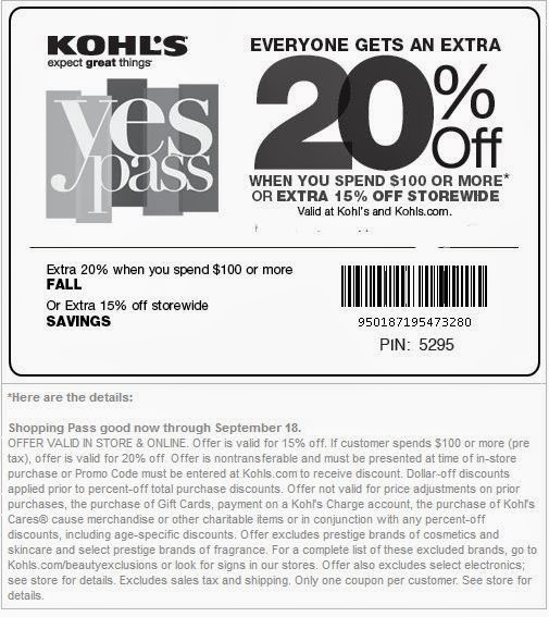 Kohls free shipping coupon october 2018