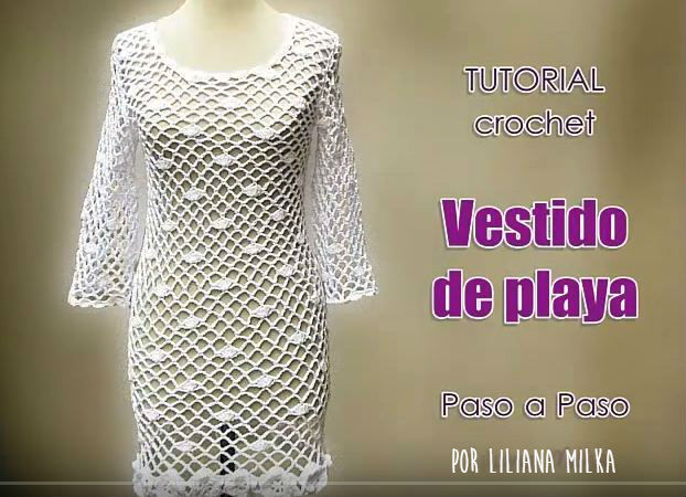 Cómo tejer un vestido de playa a crochet / tutorial en video ...