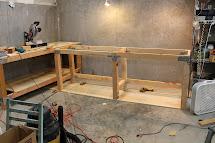 Corner Garage Workbench Plans