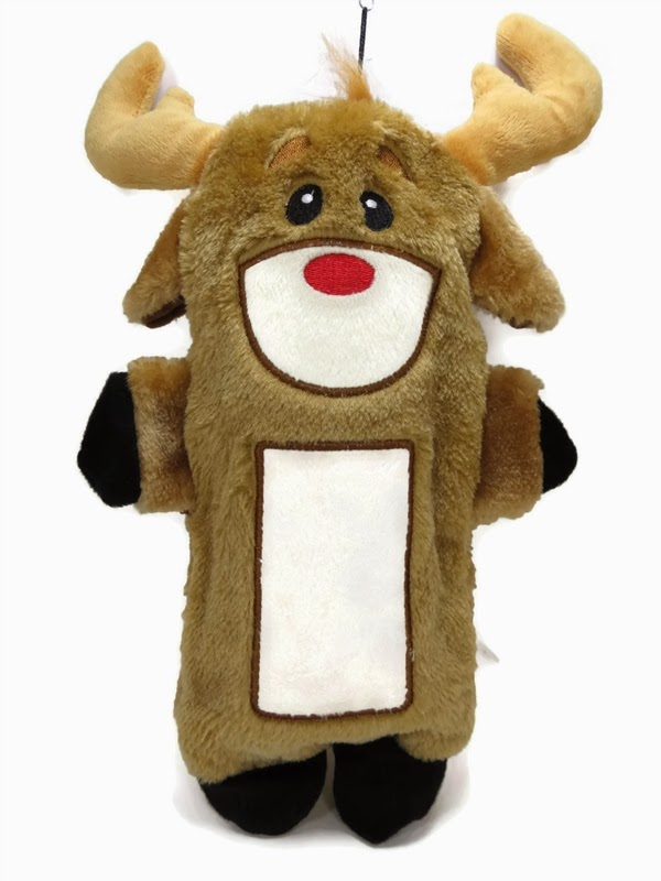 Kyjen water bottle crunch dog toys - christmas moose