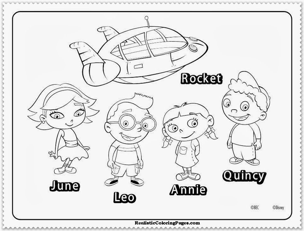 little einsteins coloring pages disney
