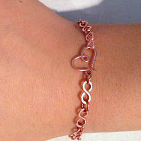 Free Tutorial for Infinity Link Chain Bracelet at Lisa Yang's Jewelry Blog