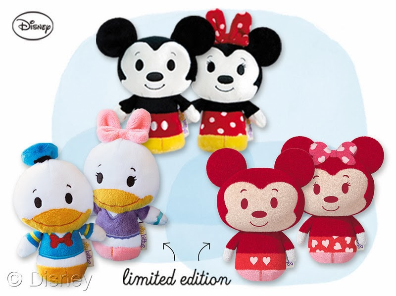 "The Hallmark ""itty bitty"" plush collection will bring smiles to kids and collectors of all ages, and includes limited editions Happy Hearts Mickey Mouse and Minnie Mouse."