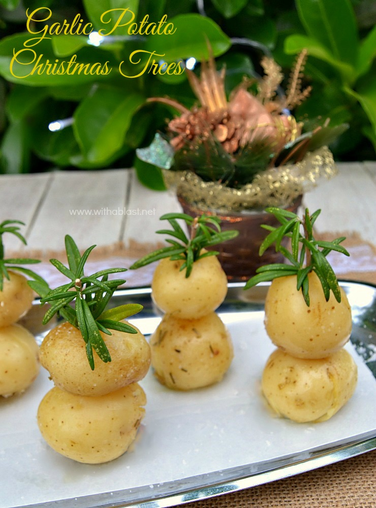 Garlic Potato Christmas Trees ~ Festive looking and very Garlicky with a hint of Rosemary ~ perfect side dish for #Christmas !