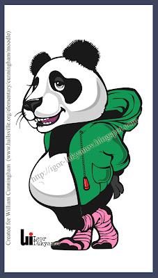 dessin mascotte panda ours (image vectorielle)
