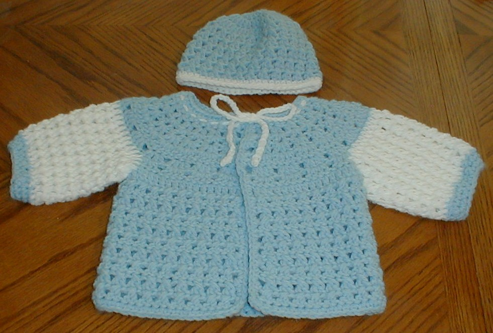 Crochet Baby Hat And Sweater Pattern : Karens Crocheted Garden of Colors: Karens Stitch ...