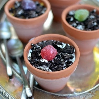 Kid's Flower Pot Dessert
