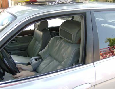 O motorista camuflado
