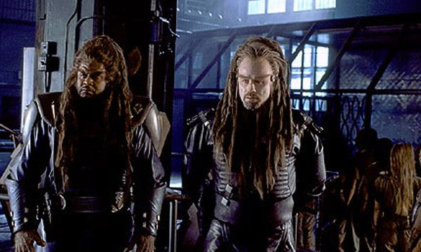 John Travolta and Forrest Whitaker in Battlefield Earth