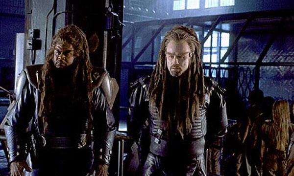 John Travolta and Forrest Whitaker in Battlefield Earth
