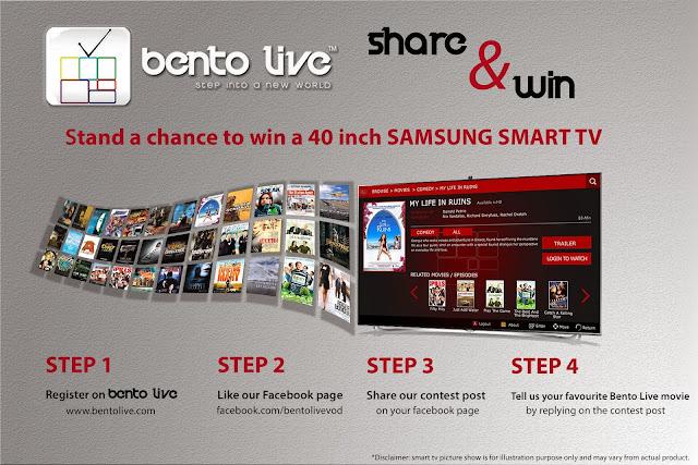 Bento Live Samsung 40-inch Smart TV Facebook giveaway contest poster