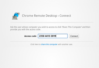 Chrome remote desktop connecting process