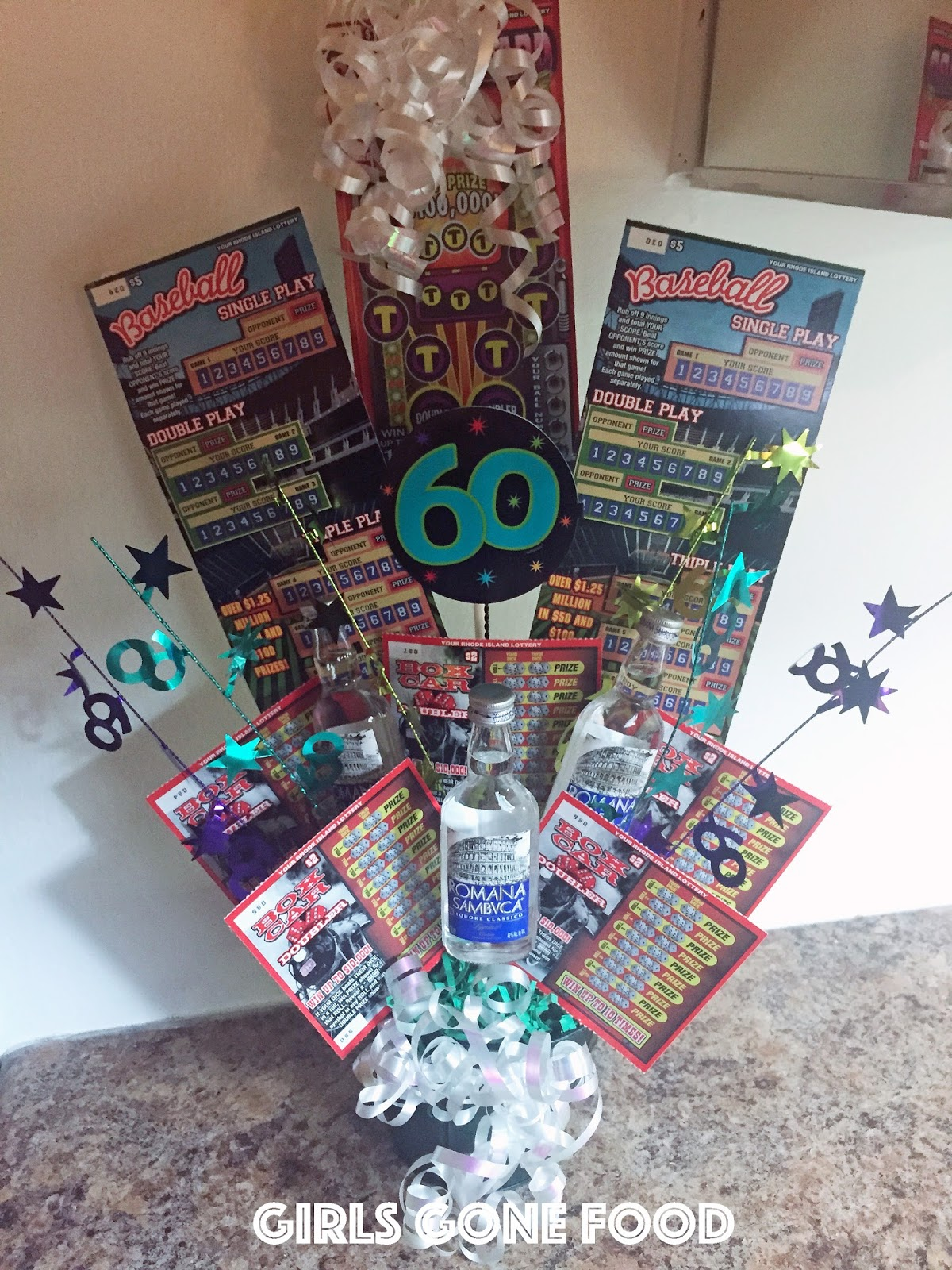 Lottery Ticket And Liquor Birthday Bouquet