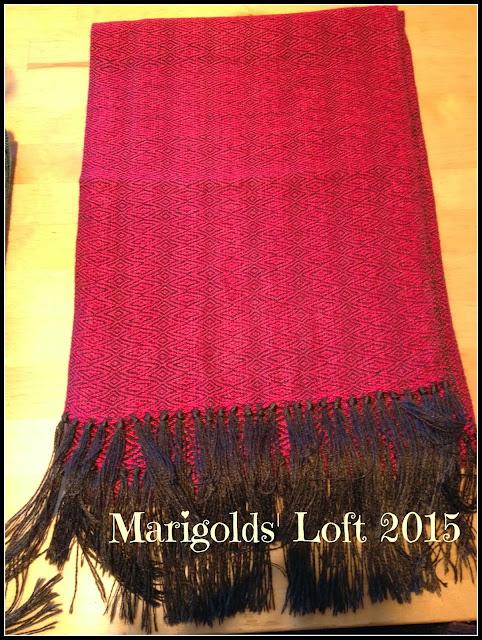 handwoven scarf tussah silk