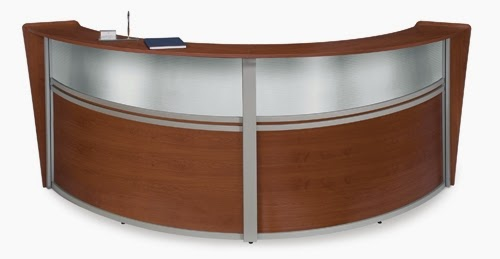 OFM Marque Cherry Finished Double Reception Station
