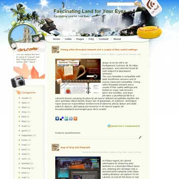 Fascinating Land for Your Eyes blogger template. template blog from wordpress