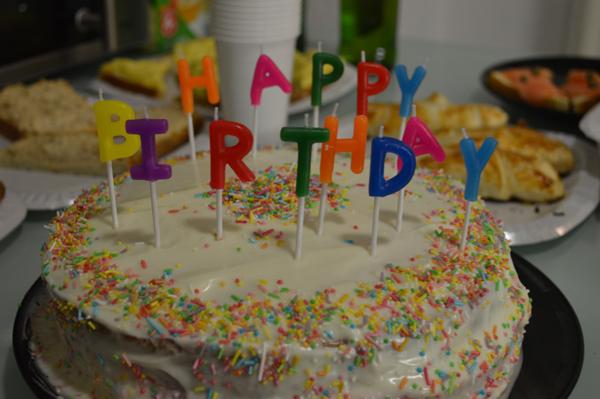 cake with rainbow sprinkles