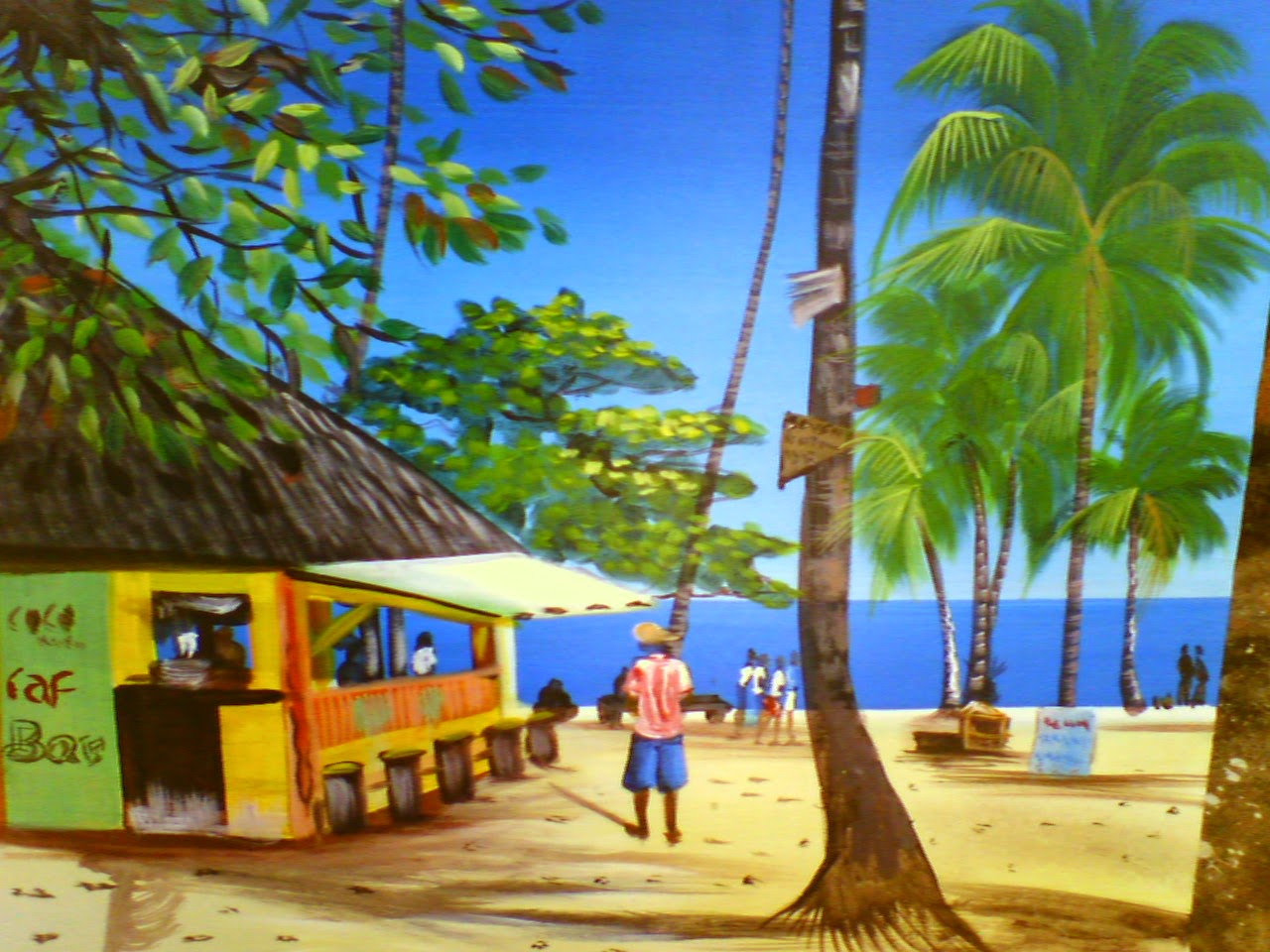 Haitian Arts painting beaches guest houses