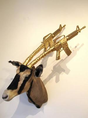 antelope taxedermy m16 art