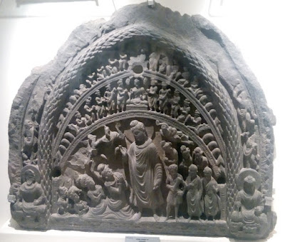 mahavira stone carving