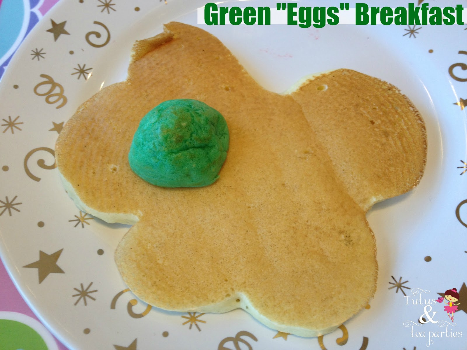 "... green ""egg"" breakfast! Being that my daughter is not the bigges..."