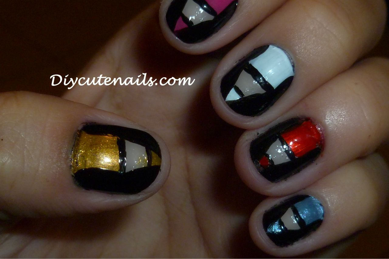 The Fascinating Funky black and white nail designs Pics
