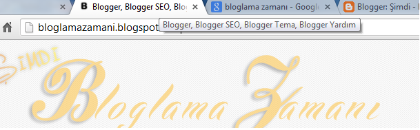 Google Arama Motoru Optimizasyonu Title - Başlık