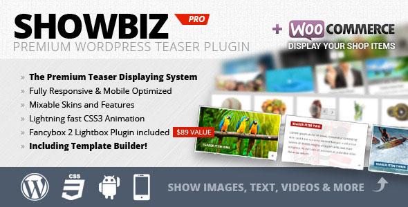 Free Download Showbiz Pro V1.7.4 Responsive Teaser WordPress Plugin