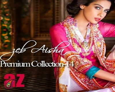 Zeb Aisha Premium Lawn Summer Collection 2014