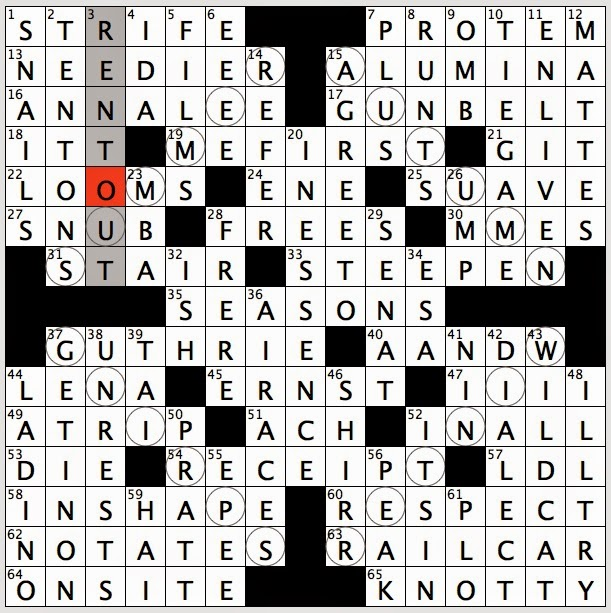 spring crossword clue