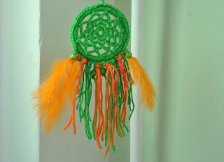 Zielono-pomarańczowy łapacz snów