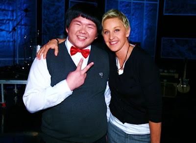 Lin Yu Chun con Ellen Degeneres en The Ellen Degeneres Show