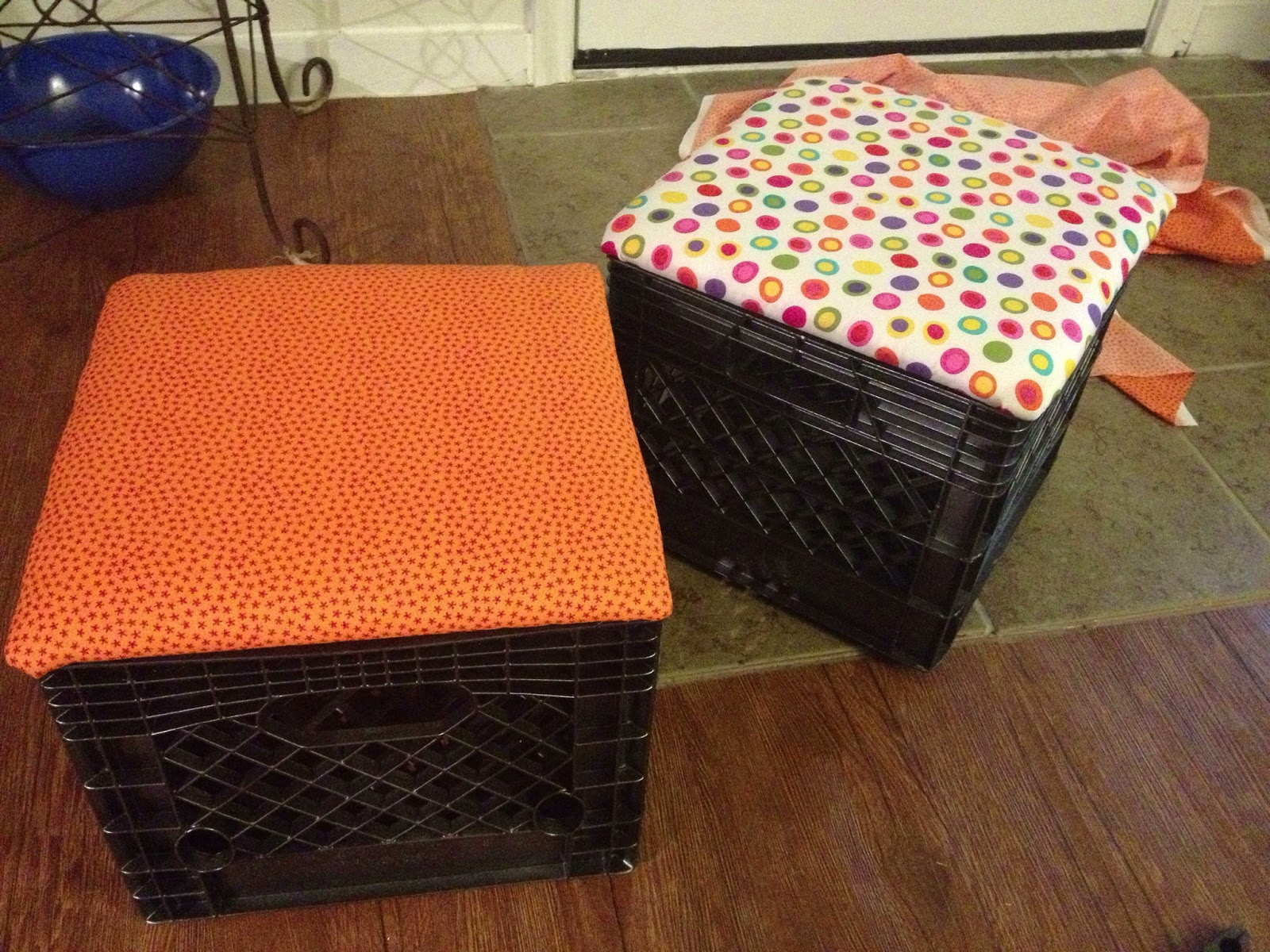 Life as i teach it pinterest project for Milk crate crafts