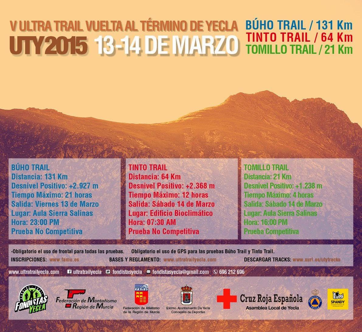 V Ultra Trail Vuelta al Termino de Yecla UTY2015
