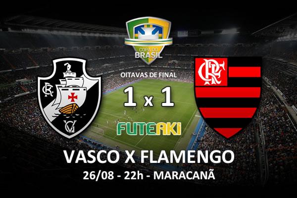 Veja o resumo da partida com os gols e os melhores momentos de Vasco 1x1 Flamengo pelas oitavas de final da Copa do Brasil 2015.