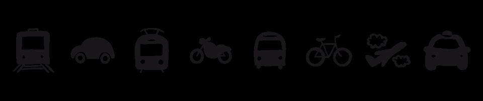 Train | Voiture | Tramway | Moto | Bus | Vélo | Avion | Taxi | Train | Voiture | Tramway