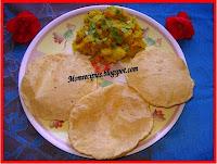 http://www.momrecipies.com/2009/09/poori-bhaji-puri-bhaji.html