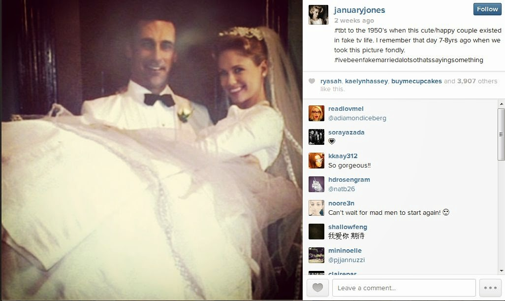 January Jones shares Mad Men's pic