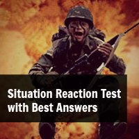 situation reaction test Situation reaction test (srt): in this test the candidates are issued with the booklet of containing around 60 situations to be answered in 30 minutes, which means one not to devote more than half a minute per one situation.