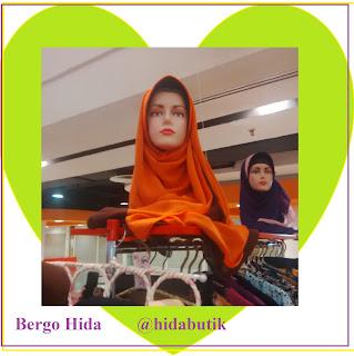 jilbab langsungan, bhan cheruty, bisa dipakai bolak balik