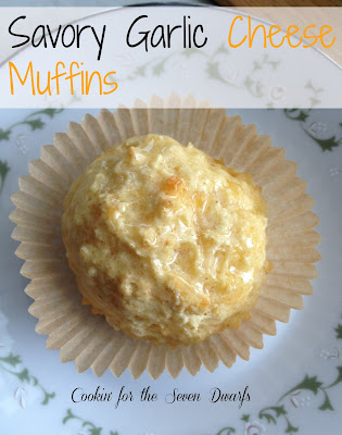 Savory Garlic Cheese Muffings by Lorraine of Cookin for the Seven Dwarfs