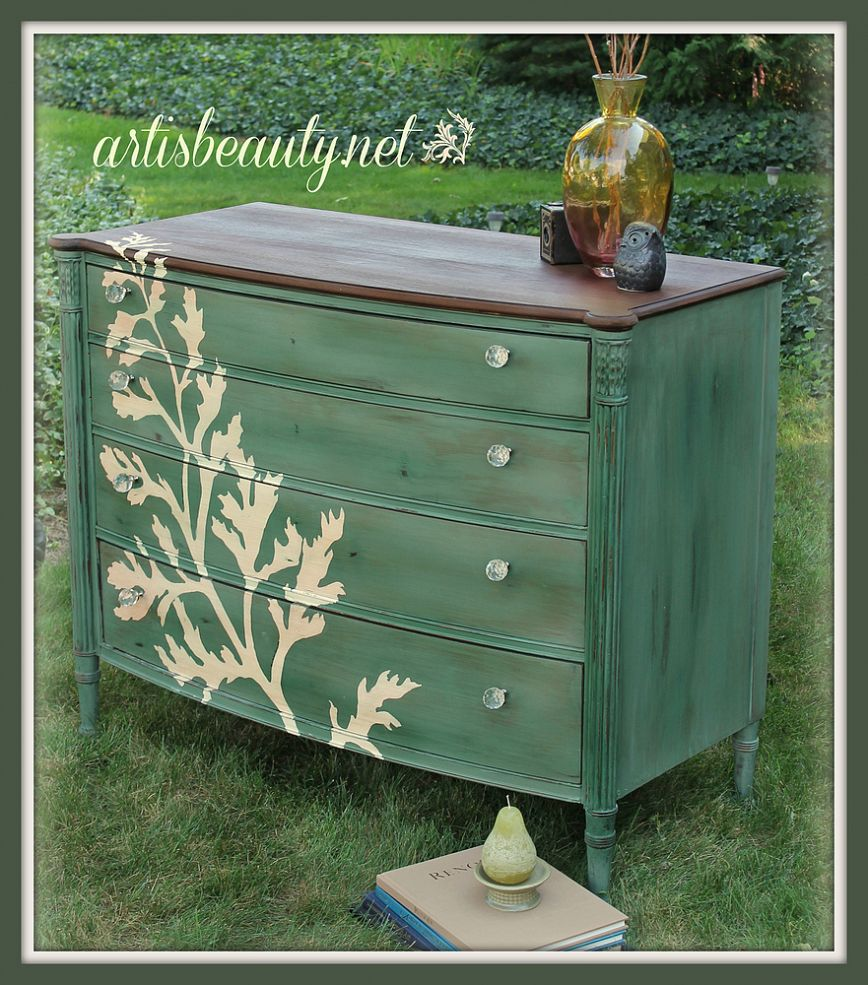 Beautiful hand painted furniture the cottage market Best color to paint dresser