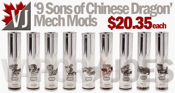 'The Nine Sons of Chinese Dragon' 18650 Mechanical Mods