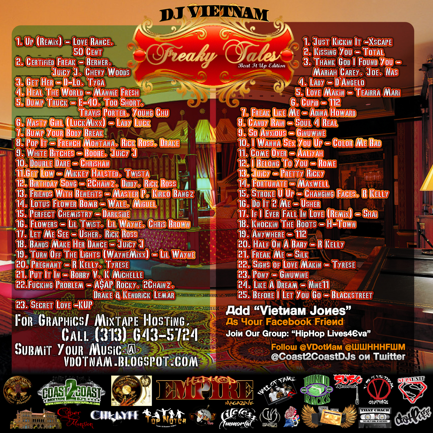 Freaky tales beat it up love makin 2cd presented for Bedroom r b mixtape